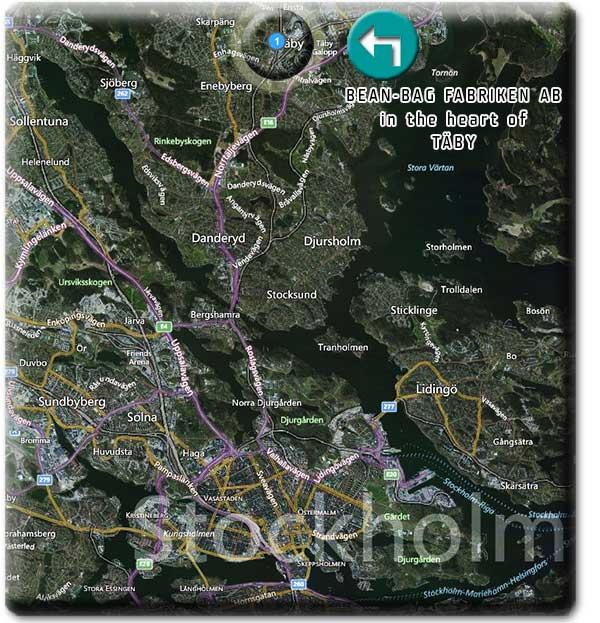 Karta över norra Stockholm